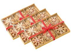 72 Étoiles en paille pour sapin de Noël