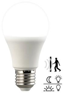 ampoule led e27 10w avec detecteur de mouvement et obscurité pour allumage automatique lumiere