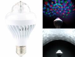 Ampoule LED rotative E27 2 en 1 avec effets Disco RVB