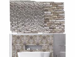 50 autocollants décoratifs 3D (x15) - 30 x 30 cm - Mur en pierres de rivière
