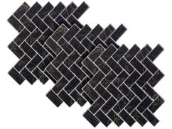 Autocollants décoratifs 3D (x3) - 26 x 26 cm - Chevrons de marbre