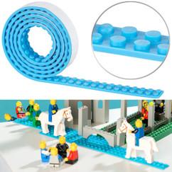 Bande adhésive 1m pour briques de construction - Bleu ciel