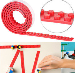 Bande adhésive 1m pour briques de construction - Rouge