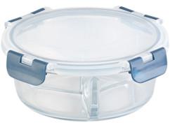 Boîte de conservation en verre à 3compartiments -20 °Cà 520 °C