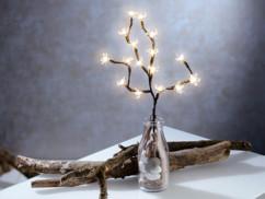 fausse branche lumineuse avec 16 fleurs de cerisier à led avec alimantation par piles