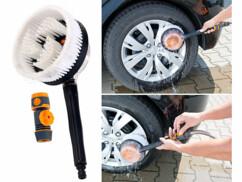 Brosse rotative spécial lavage auto pour tuyau d'arrosage