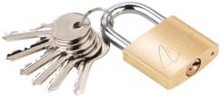 Cadenas à clé en laiton - 38 mm