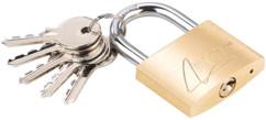 Cadenas à clé en laiton - 48 mm