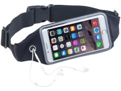 ceinture banane avec poche transparente pour iphone smarphone et trou pour ecouteurs special running velo marche xcase