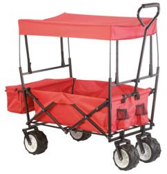 Chariot pliable avec toit et roulettes tout-terrain