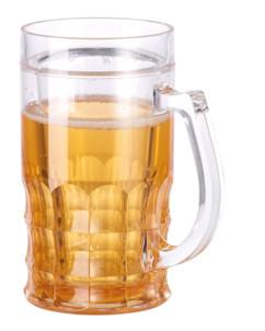 chope de biere 33cl style munich avec fausse biere et double paroi
