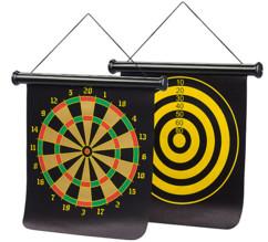 cible magnetique flechette de voyage enroulable avec 6 flechettes aimantées