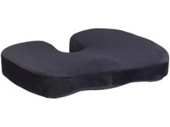 Coussin d'assise à mémoire de forme avec gel et revêtement antidérapant