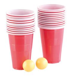 Set de Beer-Pong pas cher pour soirée étudiante.