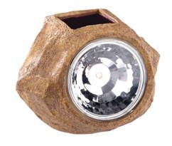 fausse pierre avec lampe led solaire intégrée pour jardin et bords de chemin royal gardineer