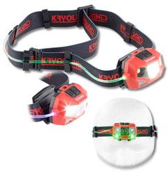 Lampe frontale à 3 LED COB/SMD 3 W
