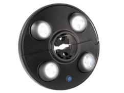 lampe led pour parasol avec fixation barre et 4 spot led orientables luminea