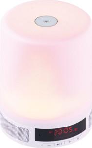 réveil lumineux led multicolore avec haut parleur bluetooth intégré lunartec