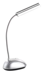 lampe de bureau design aluminium avec puissante led cob et alimentation a piles lunartec