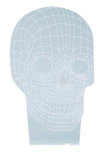 motif tete de mort hologramme 3d pour socle lumineux lunartec nx9153 rouge