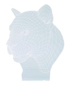 motif panthère fauve hologramme 3d pour socle lumineux lunartec nx9153 jaune