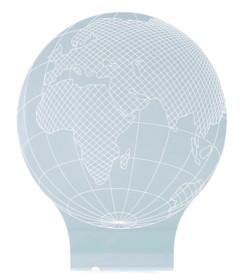 motif terre mappemonde hologramme 3d pour socle lumineux lunartec nx9153 7 couleurs