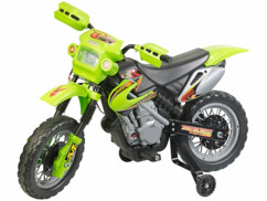 Moto électrique enfant avec roues d'entraînement, effets sonores et lumineux