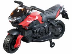 Moto électrique pour enfant avec stabilisateurs et effets sonores EKM-70