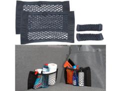 Pack de 2 filets à bagages universels pour coffre auto, 25 x 40 cm