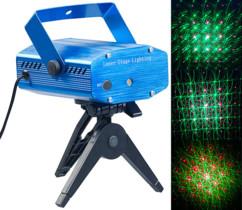 Projecteur laser effet ciel étoilé vert/rouge avec mouvements au rythme de la musique