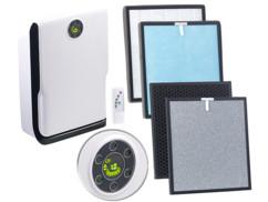 Purificateur d'air à 6 niveaux & ioniseur à lumière UV + 2 filtres de rechange