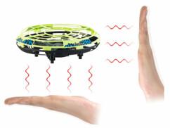 Quadricoptère autonome OVNI avec capteurs à infrarouges et LED
