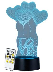 """Socle lumineux décoratif à LED """"LS-7.3D"""" - Motif Love"""