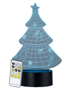 "Socle lumineux décoratif à LED ""LS-7.3D"" - Motif Sapin de Noël"