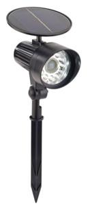 spot piquet LED avec alimenation solaire et détecteur de mouvement grand angle pas cher
