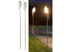 """Torches de jardin en acier inoxydable (x2) - """"Amor"""" 280 ml"""