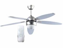 """Ventilateur de plafond avec plafonnier """"VT-997"""" - Ø 132 cm - Avec télécommande"""