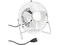 Ventilateur de table USB Ø 10 cm - Blanc