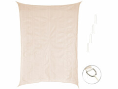 Voile d'ombrage rectangulaire - 3 x 4 m - Taupe