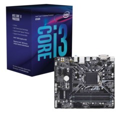 Kit Carte Mère Gigabyte Z370M DS3 + processeur Intel Core i3 8100