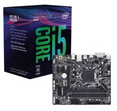 Kit Carte Mère Gigabyte Z370M DS3 + processeur Intel Core i5 8400