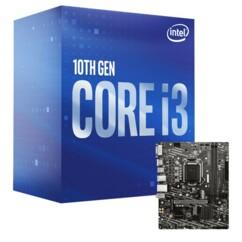 Kit avec une carte mère MSI H410M-A Pro et un processeur Intel i3-10100.