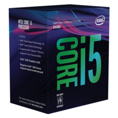 processeur intel core i5 8400 8e generation 6 coeurs 6 threads memoire 9mo socket 1151 pci express 3.0 16x