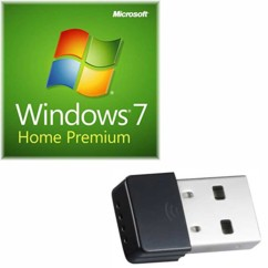 Windows 7 Home Premium OEM + Dongle USB wifi 150 Mbps