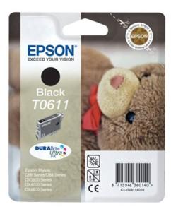 Cartouche originale Epson  Ourson Série T061140 - Noir