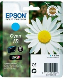 Cartouche originale Epson N°18 Pâquerette T180240 - Cyan