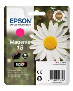 Cartouche originale Epson N°18 Pâquerette T180340 -  Magenta