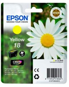 Cartouche originale Epson ''T180440'' N°18 Pâquerette jaune