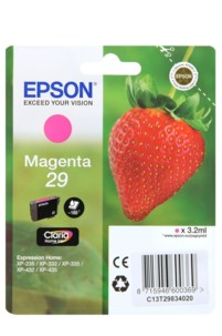 cartouche originale epson 29 fraise strawberry magenta