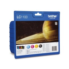 Pack de 4 cartouches originales Brother ''LC1100''